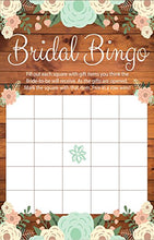 Bridal Bingo Rustic Bridal Shower Games, Premium Card Stock Bride Game Cards, Bridal Shower Decorations, Bride To Be Gifts, Wedding Games & Wedding Decorations, Party Favors, (20 Guests)