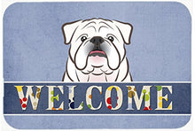 Caroline's Treasures BB1406JCMT English Bulldog Welcome Kitchen or Bath Mat, 24 by 36