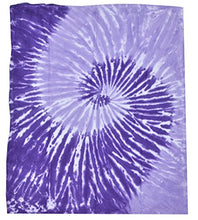 Colortone Tie Dye Blanket Spirl Purple