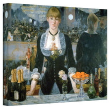 Art Wall A Bar At The Folies Bergere Masterpiece Gallery Wrapped Canvas By Edouard Manet, 36 By 48 I