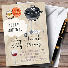 Vintage Watercolour Bbq Invitations Baby Shower Invitations