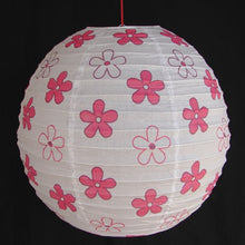 2 of White Paper Lanterns with Flower Pictures