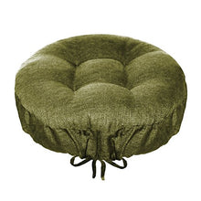 Barnett Products Round Bar Stool Cover   Rave Sage Green   Indoor/Outdoor Bar Stool Cushion   Latex