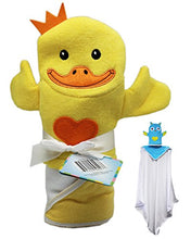 Yellow Duckling with Orange Heart Bunchkin Puppet Towel