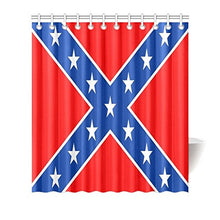Custom Texas State Flag Waterproof Bathroom decor Fabric Shower Curtain Polyester 66 x 72 inches
