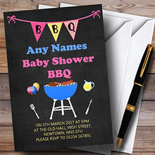 Pink Bbq Bunting Invitations Baby Shower Invitations