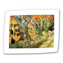 ArtWall The Road Menders by Vincent Van Gogh 24 by 32-Inch Flat/Rolled Canvas Art with 2-Inch Accent Border