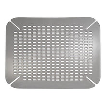 InterDesign Contour Kitchen Sink Protector Mat, Graphite