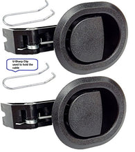 2x Recliner Replacement Parts @ Small Oval Black Plastic Pull Recliner Handle, Flapper Style, Packag
