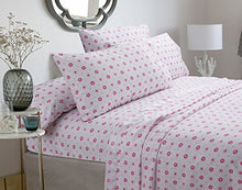 Cozy Line Home Fashions Greta Pastel Sheets Set - Pink Floral 100-percent Brushed Microfiber ... (Twin Sheet Set)