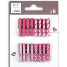 Mini clothespins - fucsia