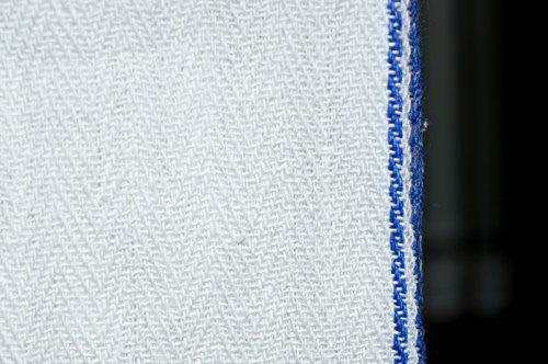 Royal 14 X 25 Inch Classic Kitchen Cotton Towels, White With Blue Stripe (15 Pack)