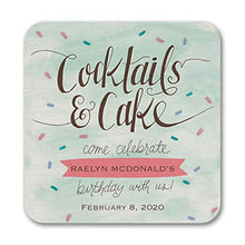 200pk Cocktails and Cake - Coaster-Party Decorations & Supplies