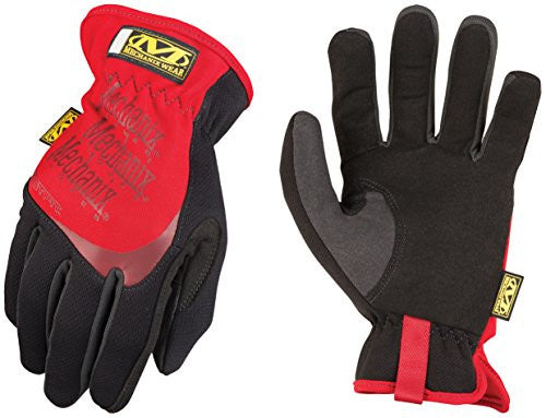 Mechanix Wear 2 X Black And Red Fast Fit Full Finger