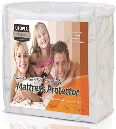 Utopia Bedding Waterproof Bamboo Mattress Protector (King)