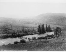 1883 photo Presidential escort crossing Gros Ventre River graphic. Vintage Bl g6