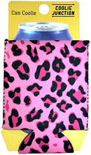 Coolie Junction Leopard Print Can Coolie Pink