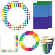 Rainbow Deluxe Party Packs (70+ Pieces For 16 Guests!), Rainbow Party Supplies