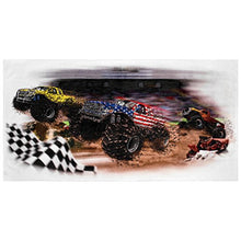 Shirts That Go Little Boys USA Monster Trucks Racing Bath and Beach Towel