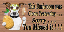 Jack Russell Bathroom Cleaning