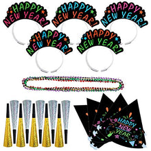 PRETYZOOM New Year Eve's Party Supplies Big Decoration Packs 10pcs Horns 5pcs Headband 5pcs Hats 5pcs Necklaces