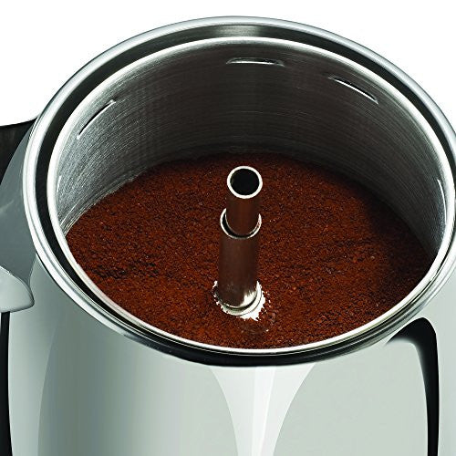 Spectrum Brands Farberware 8 Cup Percolator, Stainless Steel, Fcp280, Black