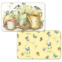 Counterart Reversible Set of 4 Wipe Clean Placemats Chickadees and Butterflies