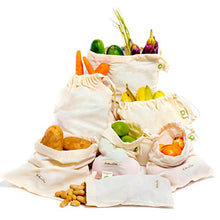 Cotton Produce Bags Organic Designed In Usa   Cotton Reusable Grocery Produce Bags Set Of 6 Pack (2