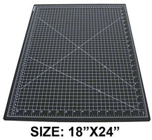 Hawk 18 X 24 Inch Self Healing Black Cutting Mat With Pre Marked Grid Lines   Mat 1824 B