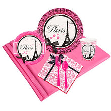 BirthdayExpress Paris Eiffel Tower Damask Party Supplies - Party Pack for 16