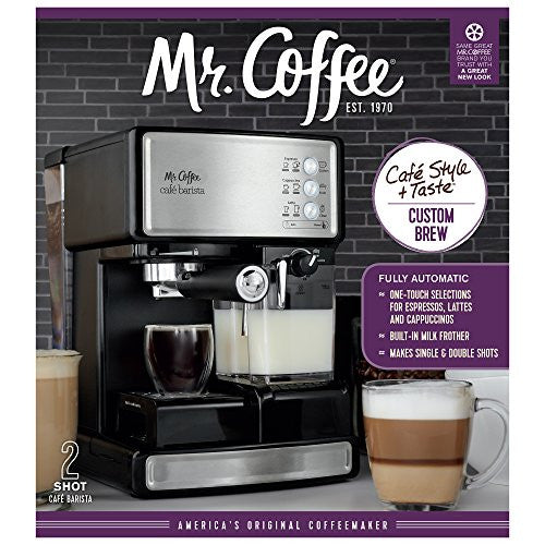 Mr. Coffee Espresso And Cappuccino Maker | Cafãƒâ© Barista , Silver
