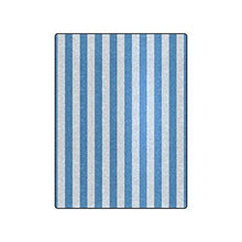 Stripe Pattern Warmer Winter Fleece Throw Plush Blanket 50 x 60 inches (Medium)