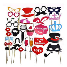 31 Pcs Colourful Party Props Photo Booth On Sticks Diy Funny For Wedding, Birthday, Christmas, Graduation