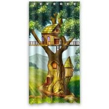 Fairy Tale Wooden House Designed for Kids- Personalize Custom Bathroom Shower Curtain Waterproof Pol