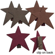 CWI Gifts 72/Set, Star Clothespins