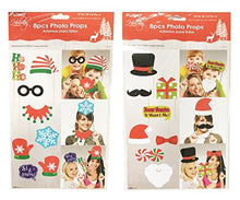 Funny Holiday Themed Photo Booth Props for Parties - Christmas Themes, Kit of 16 Props