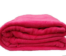Empire Coral Fleece Super Soft Solid Throw Blankets (Full, Hot Pink)