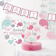Pink Baby Whale Baby Shower Decorations Kit