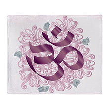 Stadium Throw Blanket Hindu Om Omkara Aum Meditation Symbol