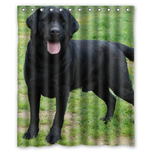labrador retriever black lab puppy dog Shower Curtain 60 x 72 Inch Bathroom