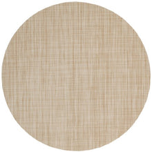 Sweet Pea Linens Cream/Tan Wipeable Charger Center Round Placemat