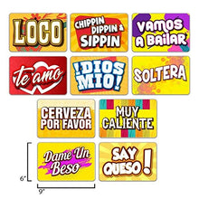 PHOTO BOOTH SIGN PROPS - IN SPANISH - Set of 5 - Double Sided. Durable PVC Plastic. Perfect for Photobooth Events, Birthday Parties, Weddings. Funny Photo booth Party Props En Espanol