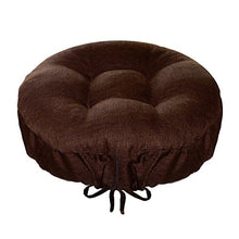 Round Bar Stool Cover   Rave Chocolate Brown   Size Standard Indoor/Outdoor Barstool Cushion   Latex