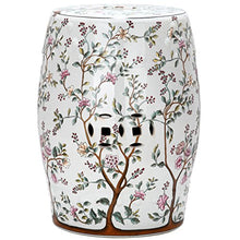 Safavieh Acs4513 A Castle Collection Glazed Ceramic Blooming Tree Garden Stool, White