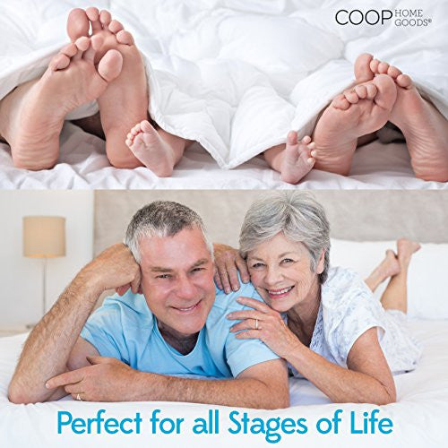 Coop Home Goods   Mattress Protector   Waterproof And Hypoallergenic   Soft And Noiseless Lulltraã'â