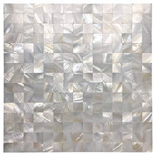 Art3d Mother of Pearl Mosaic Tile for Kitchen Backsplash/Bathroom/Shower Wall, 12