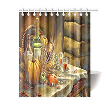 Special Design Happy Thanksgiving Day Pumpkin Waterproof Bathroom decor Fabric Shower Curtain Polyester 60 x 72 inches