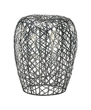 Cyan Design 02448 Open Grid Stool in Silver