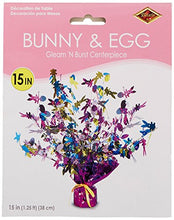 Bunny & Egg Gleam 'N Burst Centerpiece Party Accessory (1 count) (1/Pkg)