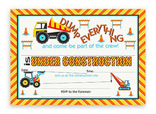 Construction Party LARGE Invitations - 10 Invitations + 10 Envelopes